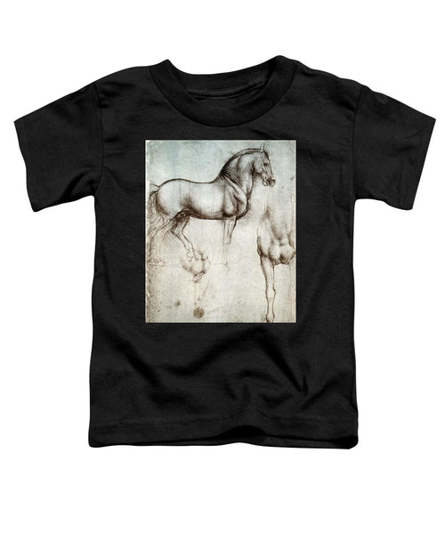 Study Of A Horse By Leonardo Da Vinci - Toddler T-Shirt