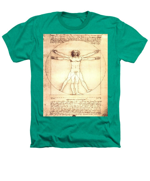 The Vitruvian Man By Leonardo Da Vinci - Heathers T-Shirt