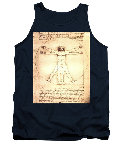 The Vitruvian Man By Leonardo Da Vinci - Tank Top