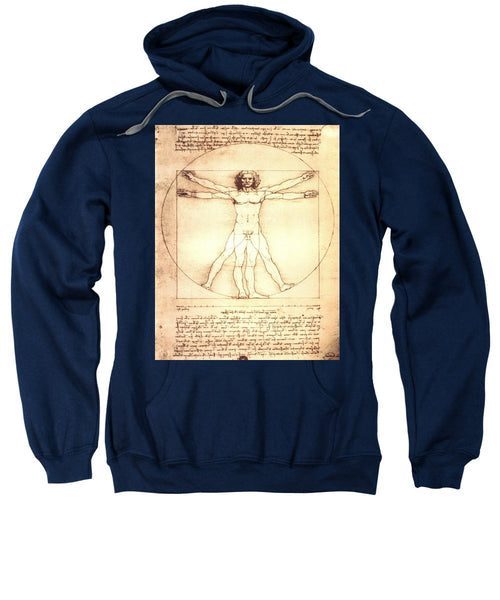 The Vitruvian Man By Leonardo Da Vinci - Sweatshirt