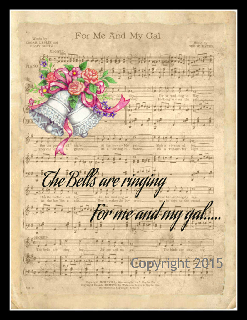 "Motivational ""The Bells Are Ringing"", Wall Decor, 8 x 10"" Unframed Printed Art Image"