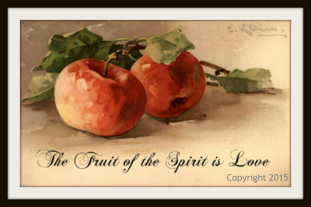 "Vintage Scripture Art Print ""The Fruit of the Spirit"", Wall Decor, 8 x 10"" Unframed Printed Art Image, Scripture Print, Motivational Quote"