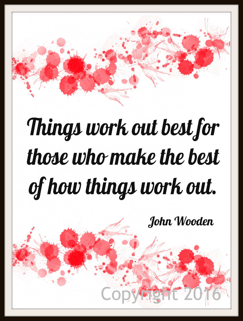 "Motivational Art Print ""Things Work Out Best""Quote, Wall Decor, 8 x 10"" Unframed Print, Motivational Quote"