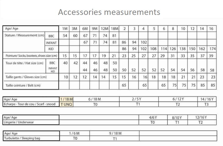 Timberand Accessories measurements