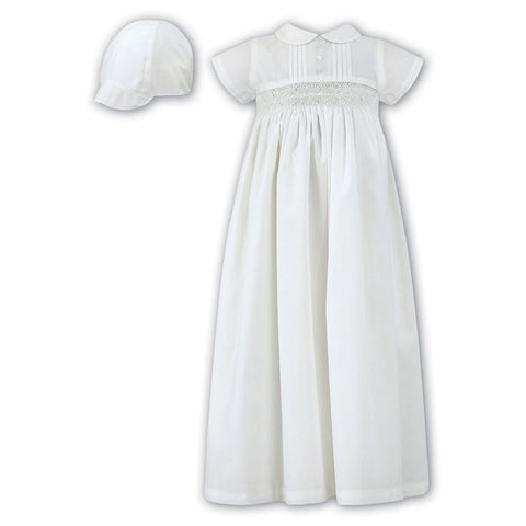 1178 White Christening Robe & Cap - Kizzies, Dresses - Childrens Wear