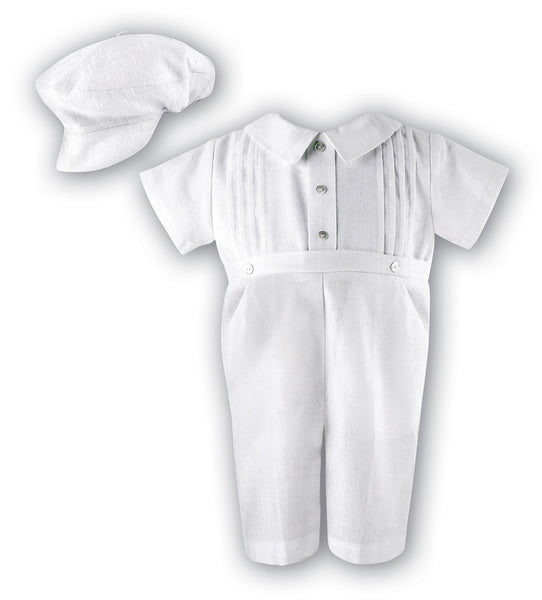 Baby Boys Romper 2243 White - Kizzies, Outfits - Childrens Wear