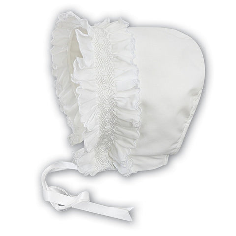 Baby Girls Ivory Bonnet - Kizzies, Hat - Childrens Wear