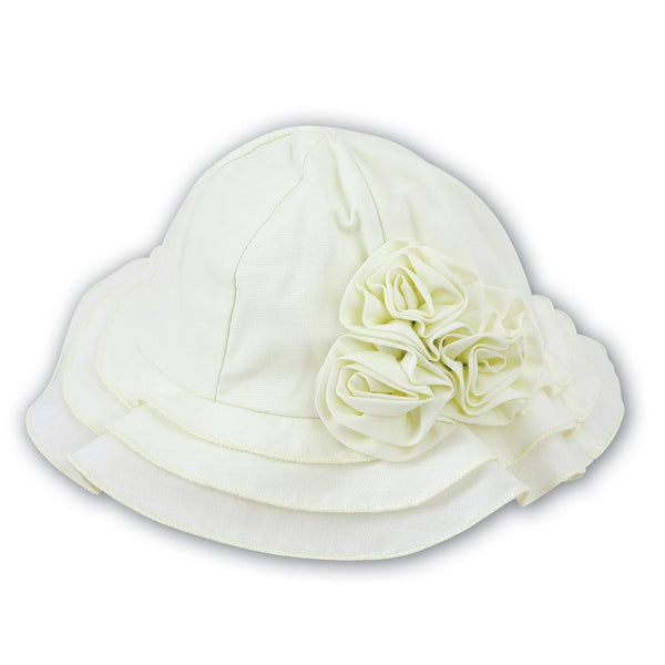 Baby Girls Lemon Sun Hat - Kizzies, Hats - Childrens Wear