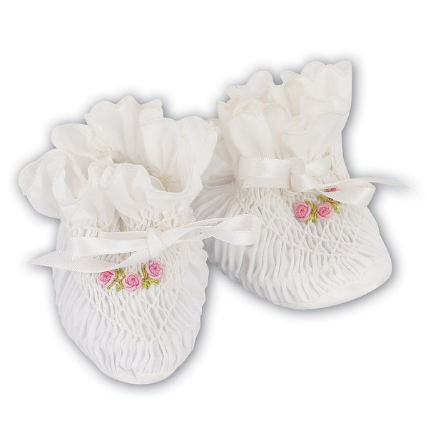 Baby Girls White BOOTIES - Kizzies, Shoes - Childrens Wear