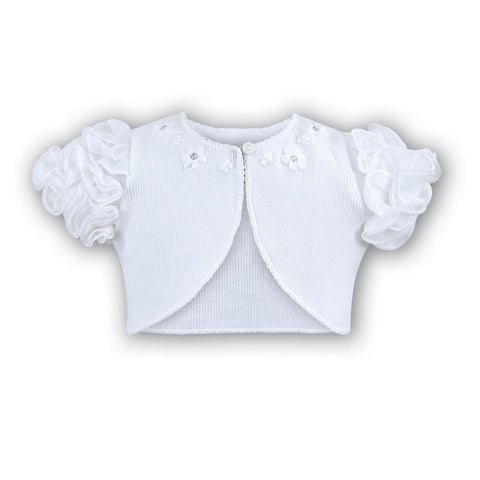 Girls Bolero 6674 White - Kizzies, Cardigans - Childrens Wear