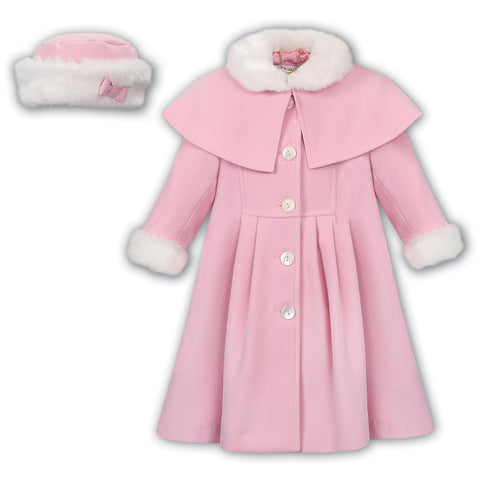 Sarah Louise Pink Coat 011782 C9500 | Kizzies