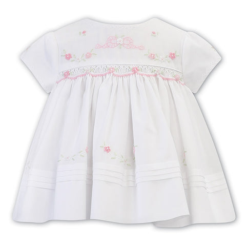 011235 Embroidered Smock Dress