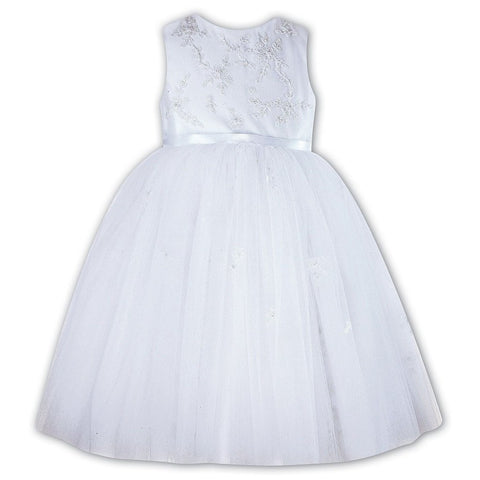 Ceremonial Ballerina Length Dress 070035 White - Kizzies, Dresses - Childrens Wear
