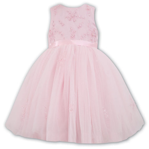 Ceremonial Ballerina Length Dress 070035 Pink - Kizzies, Dresses - Childrens Wear