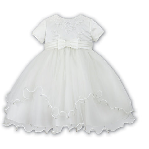 Ceremonial Ballerina Length Dress 070055 Ivory - Kizzies, Dresses - Childrens Wear