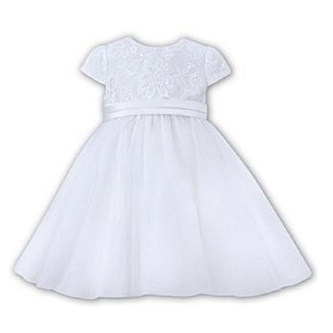 Ceremonial Ballerina Length Dress 070066 White - Kizzies, Dresses - Childrens Wear