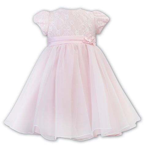 070136 Pink Ballerina Length Dress