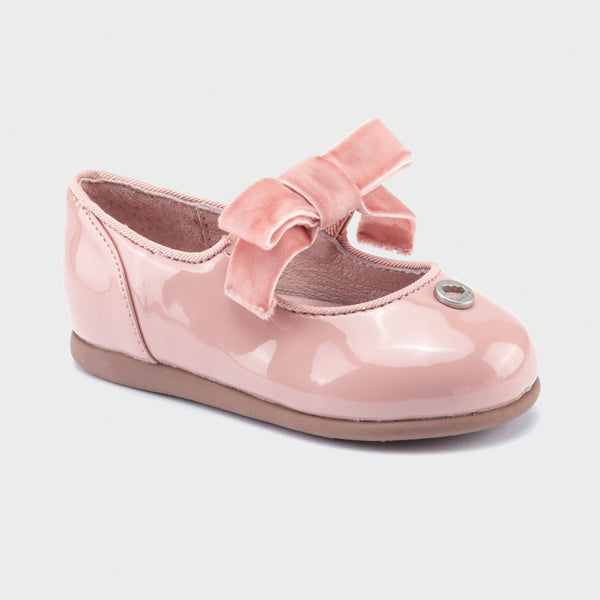 Patent Leather Buckle Shoes Rose