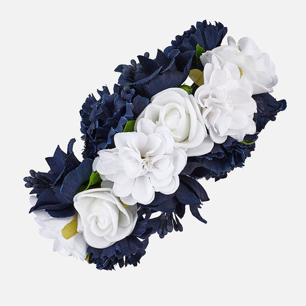 Girls Navy Flowers Headband - Kizzies, Headbands - Childrens Wear