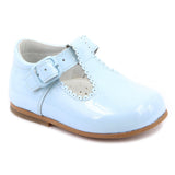 Classic Pale Blue Patent Shoes - Kizzies, Shoes - Childrens Wear
