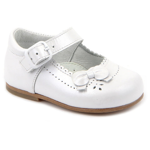 Classic White Patent Shoes with Bows - Kizzies, Shoes - Childrens Wear