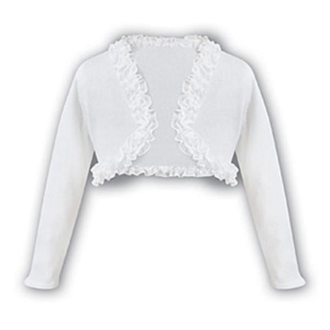 Girls Bolero 6675 White - Kizzies, Cardigans - Childrens Wear