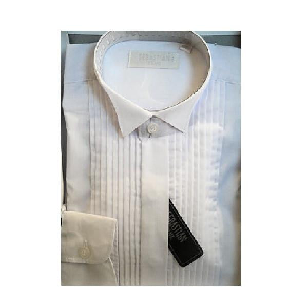 Sebastian Boys White Shirt - Kizzies, Shirts & Polos - Childrens Wear