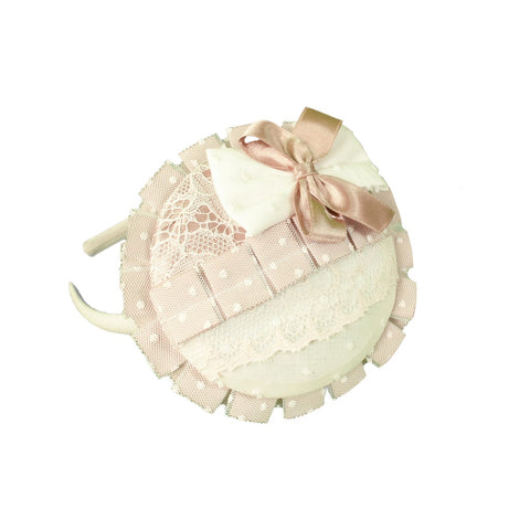 Beige Headband 1702 224DP - Kizzies, Headbands - Childrens Wear