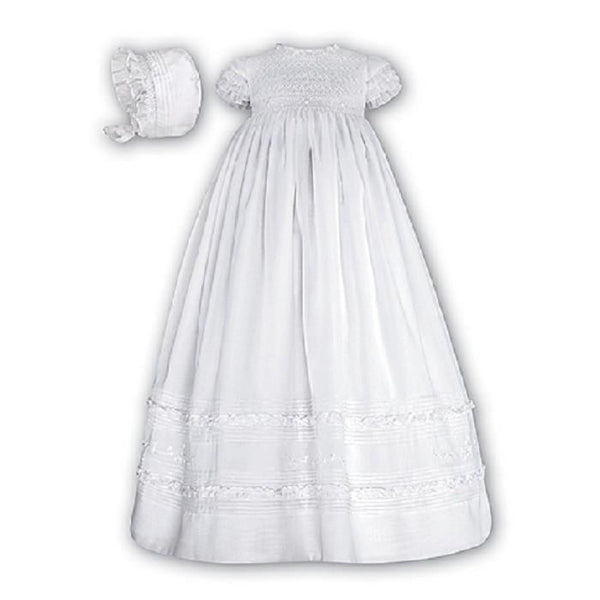 Christening Robe & Bonnet 172 White - Kizzies, Christening Robe - Childrens Wear