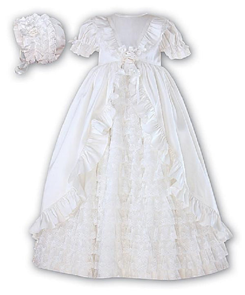 Baby Girls Silk Christening Robe - Kizzies, Dresses - Childrens Wear