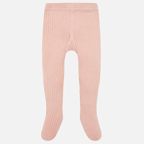 Baby Girls Blush Ribbed Tights - Kizzies, Tights - Childrens Wear