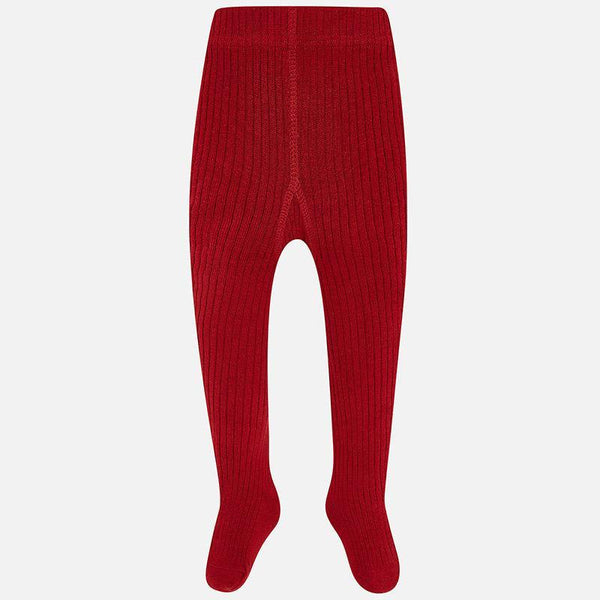 Baby Girls Red Ribbed Tights - Kizzies, Tights - Childrens Wear