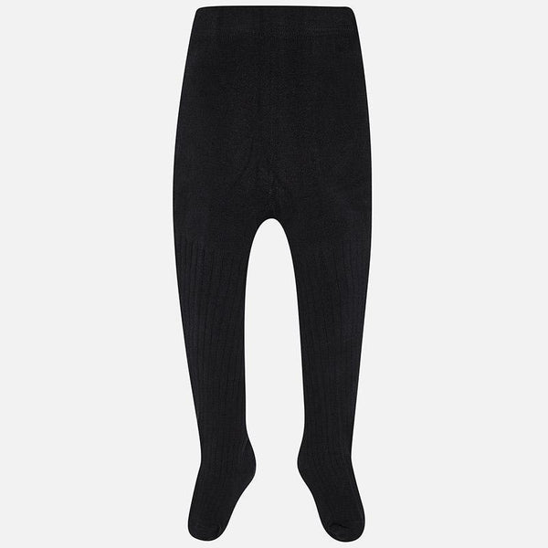 Girls Black Ribbed Tights - Kizzies, Tights - Childrens Wear