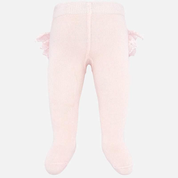 Baby Girls Rose Pink Ruffle Tights - Kizzies, Tights - Childrens Wear