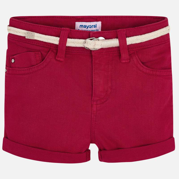 Girls 234 Red Twill Shorts - Kizzies, Shorts - Childrens Wear