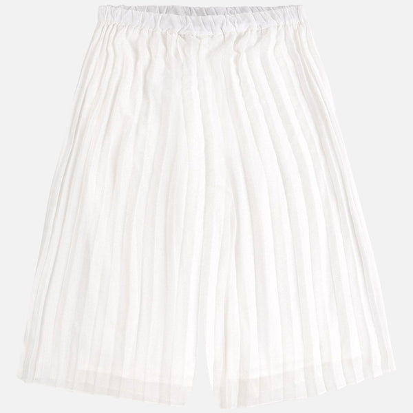 Girls Junior Natural Pleated Skirt Trousers - Kizzies, Trousers - Childrens Wear