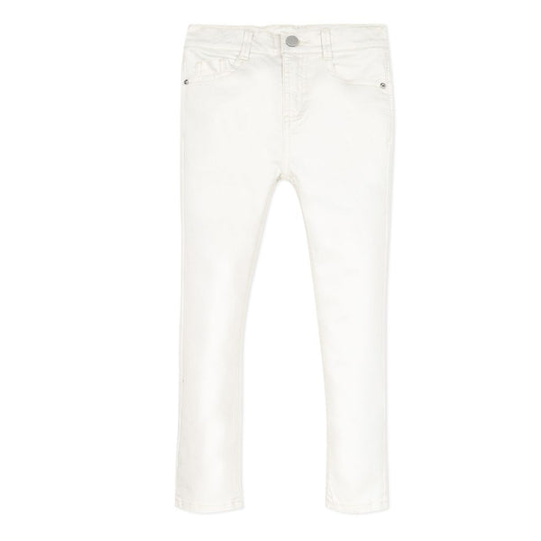 Girls White Shiny Jeans - Kizzies, Jeans - Childrens Wear