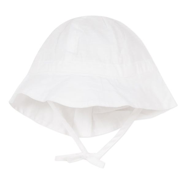 Baby White Bow Hat - Kizzies, Hats - Childrens Wear