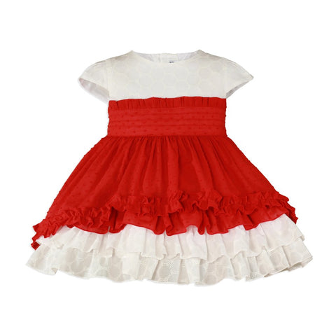 Girls Red Dress 239V - Kizzies, Dresses - Childrens Wear