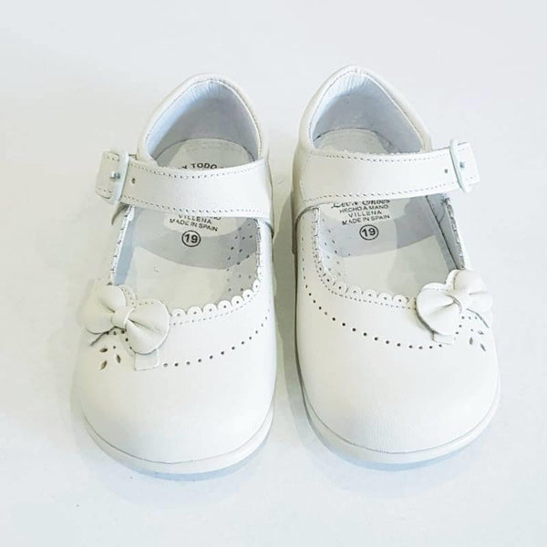 LEON GIRLS IVORY SHOES | Kizzies