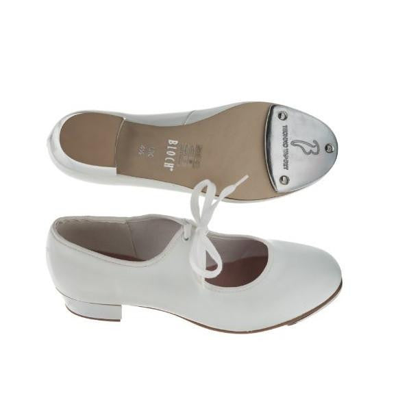 Shirley White Low Heel Tap Shoes - Kizzies, Tap Shoes - Childrens Wear