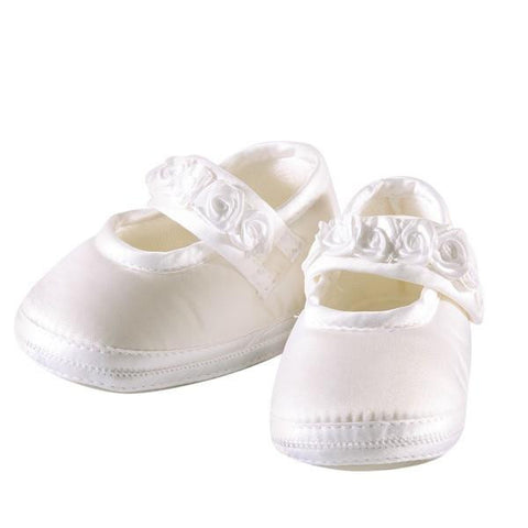 Baby Girls White Soft Shoes - Kizzies, Shoes - Childrens Wear
