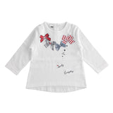 iDO Girls Bow T-Shirt White