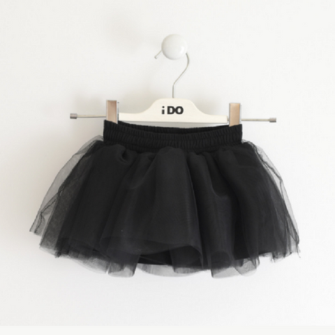 iDO Girls Tulle Skirt Black