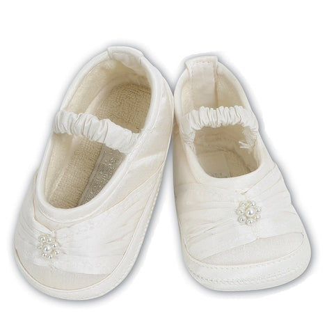 Silk White Satin Shoes - Kizzies, Shoes - Childrens Wear