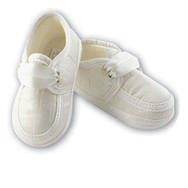 Baby Boys Soft Ivory Shoes - Kizzies, Shoes - Childrens Wear