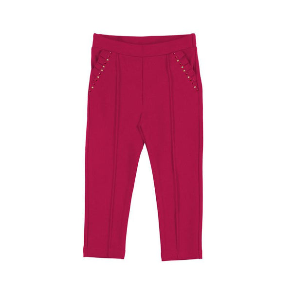 Girls Red Long Trousers - Kizzies, Trousers - Childrens Wear