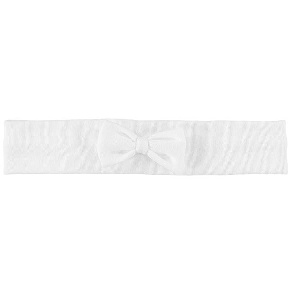 Alba White Hairband with Bow - Kizzies, Headbands - Childrens Wear