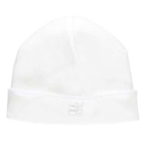 Genesis Unisex White Pull on Hat - Kizzies, Hats - Childrens Wear