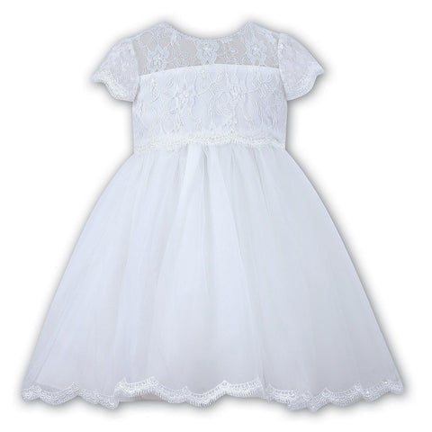 Sarah Louise 70060 White Ballerina Length Dress | Kizzies